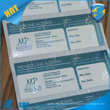 factory custom printing pharmaceutical packaging vial label