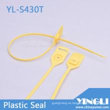 Tire de los sellos de seguridad de plástico herméticos con cierre de metal