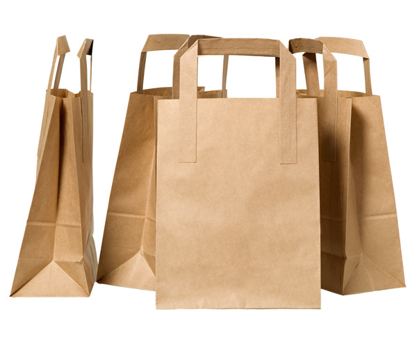 Brown Kraft Paper Bag Flat Handle Bags