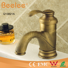 Antique Copper Single Handle Bibcock Bathroom Basin Faucet
