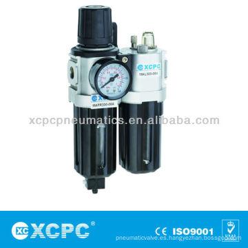 Filtro de aire fuente tratamiento XACP serie y combinación de filtro regulador lubricador FRL de aire preparación unidades aire