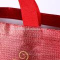 Eco wiederverwendbare metallische lamellierte nicht gesponnene Taschen-EinkaufsTaschen-Taschen-Lebensmittelgeschäft für Förderung, Supermarkt und Werbung