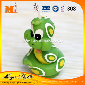 Cartoon Snake Design Candle for Birthday Party Gift Favors