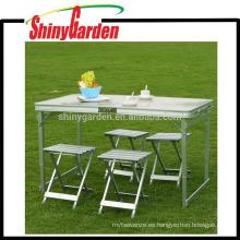 Mesa de picnic plegables al aire libre con 4 asientos