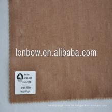 100% algodón Tejido de terciopelo de calidad fina