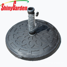 resin outdoor patio parasol round cheap umbrella base
