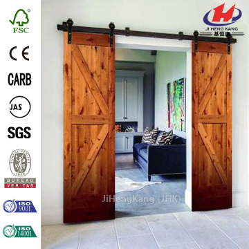 JHK-S06  Wood Track Shower Interior Sliding Barn Door