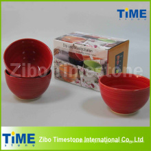 Conjunto de 4 cerâmica mão pintado Bowl
