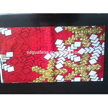 2014Cheap price100% algodão estampas de cera africano tecido 6 metros