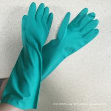 """NMSAFETY длинная рука перчатки 35см,14"""" химическая ладони en388"""