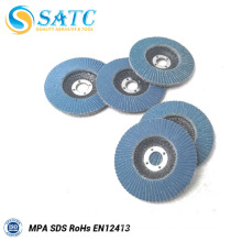 Fiberglass backing plate of flap disc for stainless steel