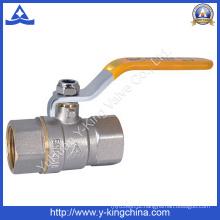 Válvula de esfera de água de bronze forjada (YD-1021)