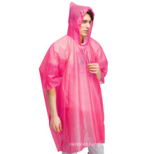 Custom Logo print Plastic Disposable Mens Rain Gear Ponchos Raincoats