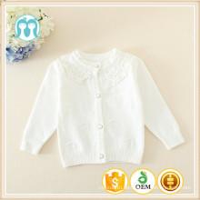 2014 neueste Herbst Winter Korea Mädchen Kinder weiße Strickjacke / weiße Pullover / Kinder Pullover