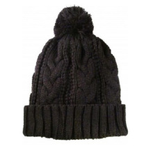 Plain POM POM Knitted Beanie Hats