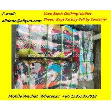 Venta al por mayor de ropa usada zapatos bolsos ropa balas exportar mercado de África