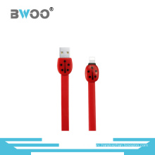 Visible LED Light TPE Flat USB Cable for 8-Pin Devices
