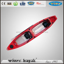 Double Seats Sit on Top Bottom Transparent Fishing Kayak