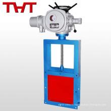 Vanne à guillotine électrique en fonte sous pression / en fonte d'acier avec dessin