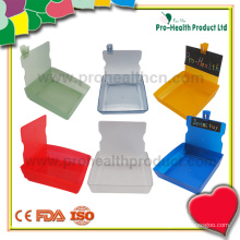 Dental Lab Working Case Pan Plastic Container Tray with Clip(pH09-069)