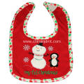 Christmas baby bibs with snowman and penguin