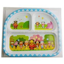 Placa de refeição de melamina Kids 9.5inch (PT195)