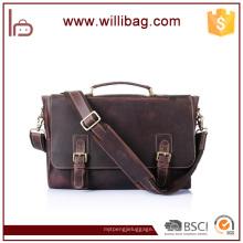 Hochwertige Vintage Top Grain Business Bag benutzerdefinierte Männer Aktentasche