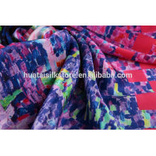 Italian top brand supplier digital printed silk fabric China factory