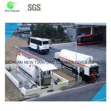 LNG estación de llenado móvil con equipo de corolario entero, servicio de una sola solución de solución, volumen de Defferent