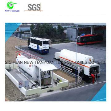 Station de remplissage sans fil mobile LNG avec équipement corollaire complet, service à solution unique, volume dépendant