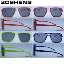 Простая титановая оптическая оправа, поляризованная дешевая солнцезащитная очки