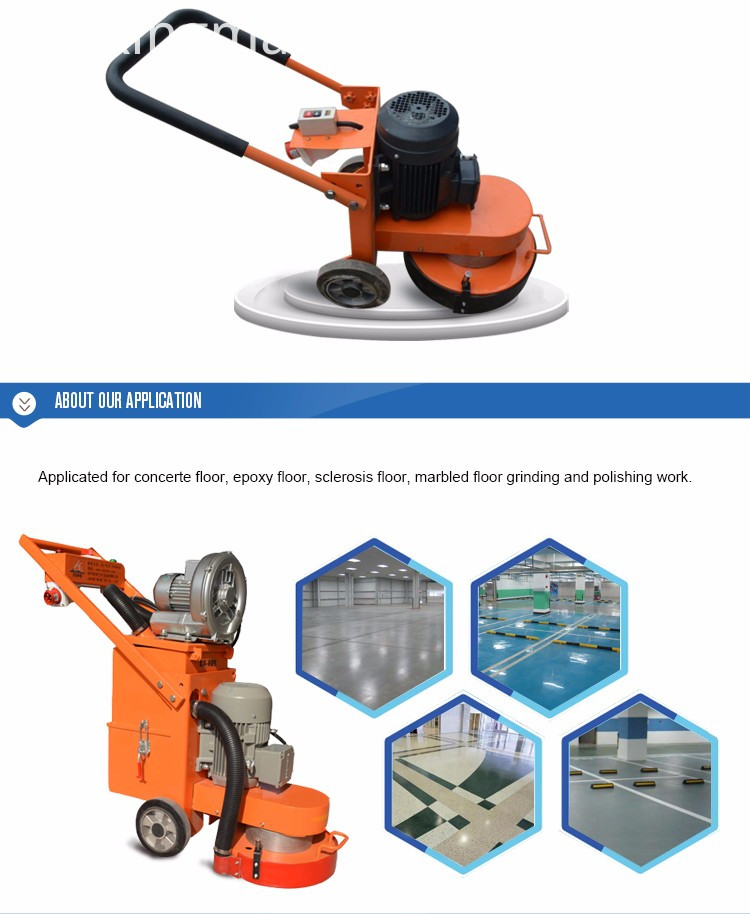 Concrete Floor Grinder Wet Or Dry Dust Collector