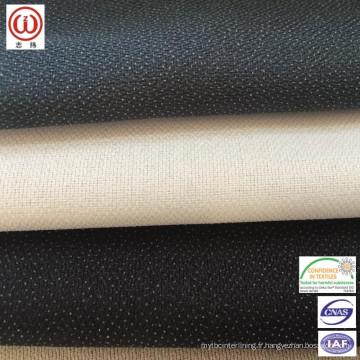 Encombrement fusible doux au toucher pour vestes, chemises ou ceintures