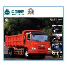 266HP Sinotruk HOWO 4 X 2 Camion benne