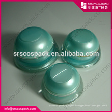 China Cone Shape Cream Jar Plastic Acrylic 5ml 15ml 30ml 50ml Filp Top Bottle