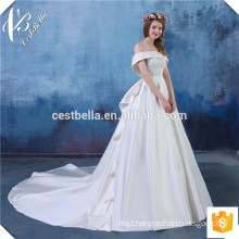 Customized Glamorous Cap Sleeve Puffy Ivory Ball Gown Brides Dress Wedding Gowns Aliexpress Made in China Wedding Dresses
