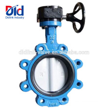 Gear Operated End Connection Type Stem Tapped Lug Damper Cast Iron Fully Lugged Butterfly Valve Pn16