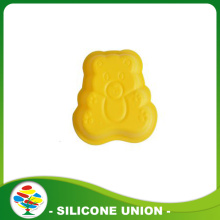 Colourful kitchen tool silicone little bear cake mould