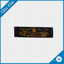 High Quality Black Woven Label for Jeans Label
