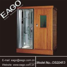Sala de sauna de infrarrojo lejano con sala de ducha de vapor (dos en uno)
