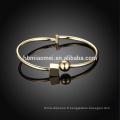2017 Plaqué Or Bracelet Femme Bijoux Bracelet Ouvert Bracelet Pour Les Femmes 18K Plaqué Or Big Bangle Bracelets