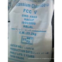 Cloruro de potasio 99.0% Grado alimenticio (FCC y GB)