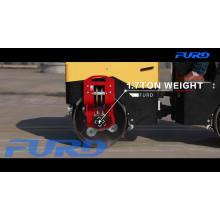 Compactador de rolo vibratório de roda de aço rolo de tambor vibratório suave FYL-900
