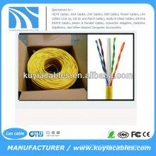 CAT6 Cable de red sólida UTP Ethernet Caja de 1000 pies