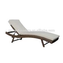 Usine en meubles de rotin de chaise longue de Foshan Outdoor Sun Lounger