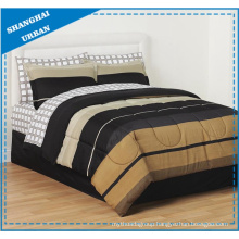 5 Piece Brown Black Shade Polyester Comforter Set