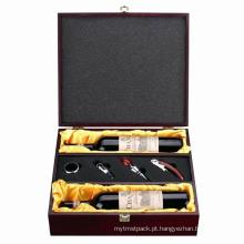 Caixa de madeira do presente feito sob encomenda para o pacote / jóia / vinho / chá.