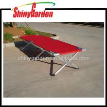 Aluminun portátil al aire libre militar que acampa cama plegable