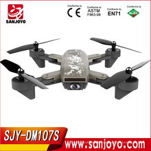 PK XS809 Foldable Drone with Wifi Follow me Function 720P Wifi FPV Wide Angle Camera Long Flight Time SJY-DM107S Black color