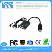 Kuyia VGA a adaptador HDMI 1080P HDMI macho a VGA hembra con cable convertidor adaptador de vídeo para PC DVD HDTV